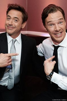 Robert Downey Jr & Benedict Cumberbatch: Sherlock squared (!) <<< Several more awesome pics at the link.