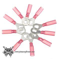 10PCS 10.5mm Conectores Tipo Anillo 0.5-1.5mm² 22-16AWG M6 Color Rojo - Envío Gratis a toda España - 4,39€