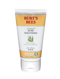 Burt's Bees Natural Acne Solution Scrub. This scrub is amazing! And it's only $10 I need to try this...my face has been breaking out lately :(