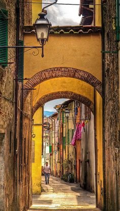 Picturesque alley in Sansepolcro, Italy by Anguskirk, via Flickr