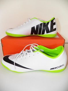 Chuteira Society Infantil Nike Mercurial Vapor 12 Club Gs TF Cinza e Amarelo