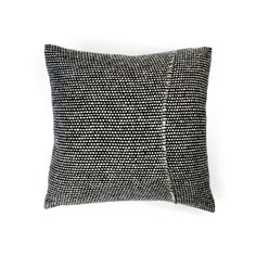 Handwoven in the UK from original midcentury designs, a neutral-toned pillow in a thick, luxurious merino wool tweed.