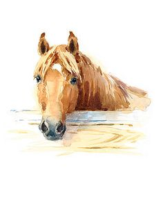 watercolor animals Horse in Stable Watercolor Animal Illustration Hand Painted. Watercolor Horse, Easy Watercolor, Watercolor Animals, Watercolor Tattoo, Horse Illustration, Watercolor Illustration, Colorful Paintings, Animal Paintings, Horse Paintings