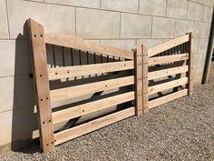 Cheap Driveway Gates, Diy Driveway, Driveway Entrance, Entrance Gates, Wooden Driveway Gates, Front Gates, Farm Gate, Farm Fence, Fence Gate