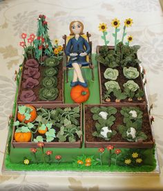 My finished allotment cake!