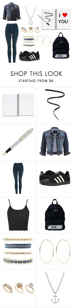 """School"" by sratuankl on Polyvore featuring moda, Smith & Cult, maurices, Topshop, adidas, Moschino, Charlotte Russe, Kenneth Jay Lane, Dorothy Perkins e Minor Obsessions"