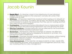 Classroom Management Theorists and Theories/Jacob Kounin