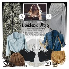 """""""LOOKBOOKSTORE.CO - One top - two ways!"""" by anita-n ❤ liked on Polyvore"""