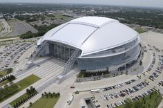 Dallas Cowboys Stadium...taking it back old school. Used to park here every year to catch the buses to the Byron Nelson.