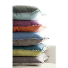 Eyelash pillows in assorted colors | Crate & Barrel