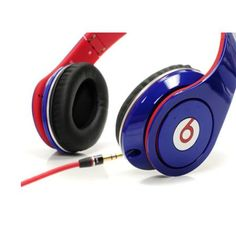 Monster Beats By Dr Dre Monster Beats by Dre Studio Red Blue High-Definition Headphones