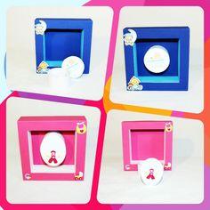Kleine Geschenkeschachteln, die magnetisch in einer Art Bilderrahmen gehalten werden, der wiederum magnetisch an allem Metallischen hängen kann oder mit einem Nagel an der Wand. Alles kann man auch einzeln verwenden.... Eine sowohl geniale, als auch wunderhübsche Idee von Sandra. #DIY #Berlin #Friedrichshain #stoffwelten #unikat #selbstgemachtesverkaufen #dawanda #kreativbühne #fachvermietung #knitting #instacraft # instagood #homemade #instalike #bestoftheday #igart