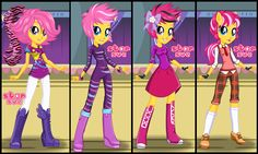 My Little Pony Equestria Girls Wild Rainbow Scootaloo Dress Up Game :  http://www.starsue.net/game/Scootaloo-Wild-Rainbow-Style.html