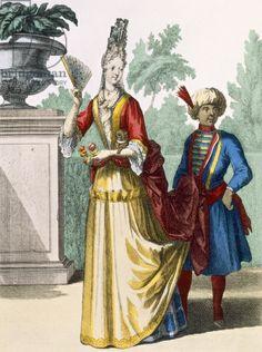 Recueil des modes de la cour de France, Lady in summer dress, France, Paris, circa 1682-1686, Hand-colored engraving on paper
