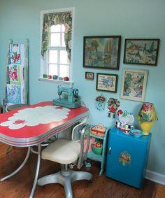 My Studio's Sewing Area