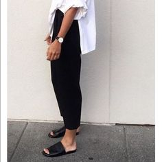 Chic Leather Slides