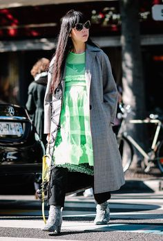 40 Inspiring Photos of Maternity Street Style from Fashion Month | StyleCaster