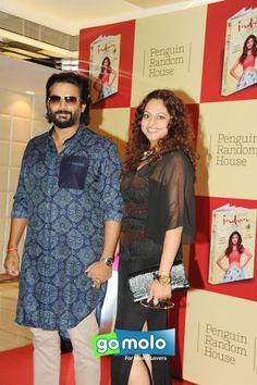 R. Madhavan & his wife Sarita Birje at the Launch of Shilpa Shetty Kundra's book 'The Great India Diet' at Sahara Star in Mumbai