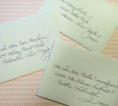 """My """"Curly Contempo"""" writing style.  Calligraphy by Carrie."""