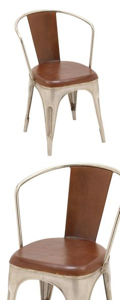 If you're looking to finish off the look of your farmhouse-chic dining room, then look no further than the Augusta Dining Chair. The classic metal construction meshes perfectly with gorgeous leather, c...  Find the Augusta Dining Chair, as seen in the The Foundry Collection at http://dotandbo.com/collections/the-foundry?utm_source=pinterest&utm_medium=organic&db_sku=115059
