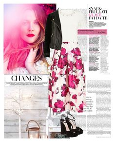"""Untitled #184"" by marisaulia ❤ liked on Polyvore featuring Precis Petite, Oscar de la Renta, River Island and Miu Miu"