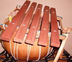 West African gourd-based wood Xylophone.