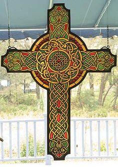 celtic beveled glass windows | Tiffany Stained Glass Windows, Celtic Cross Art Glass Window 79986 by ...