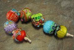 Bollywood Chunkies Oshma Lampwork Bead Set by flamekeeper on Etsy, $85.00