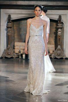 Inbal Dror Bridal Fall Winter 2017 Gown 8 Sleeveless Sheath Sequin Wedding Dress Straps Dresses