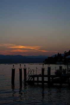 Sunset from Sirmione, Lake Garda, Italy