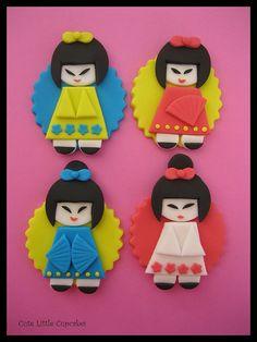 Kokeshi Dolls Cupcakes