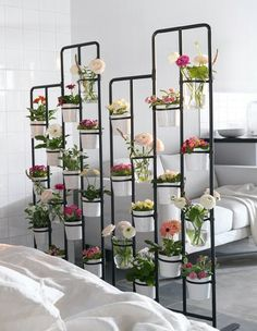 This room divider plant stand is fantastic!