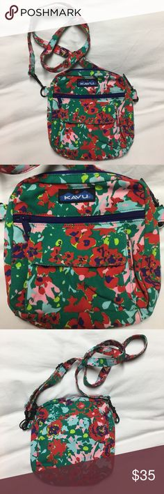 New KAVU Crossbody Very cute brand new KAVU crossbody. It is smaller but great for Day to day! Fits just the necessities. KAVU Bags Crossbody Bags