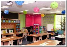 This site has tons of pictures of fabulous classroom ideas! for Sunday School classroom ideas Classroom Layout, Classroom Organisation, Classroom Setting, Classroom Design, School Organization, Classroom Themes, School Classroom, Classroom Management, Future Classroom