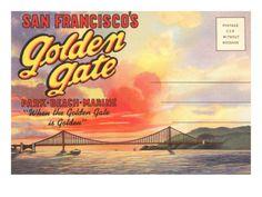 Postcard Folder, San Francisco's Golden Gate