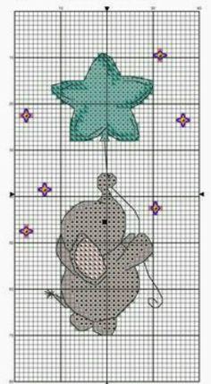 Cute Cross Stitch, Cross Stitch Bird, Cross Stitch Animals, Cross Stitching, Cross Stitch Embroidery, Crochet Stitches For Blankets, Crochet Stitches Patterns, Crochet Chart, Crochet Cross