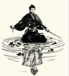 """Tatsuya Nakadai in Masaki Kobayashi's film """"Harakiri"""" drawn by Greg Ruth Creation Image, Samurai Artwork, Japanese Warrior, Art Asiatique, Asian Tattoos, Samurai Warrior, Japan Art, Ink Art, Chinese Art"""