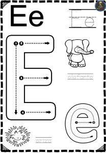 Letter E Activities, Preschool Learning Activities, Kindergarten Worksheets, Writing Activities, Preschool Writing, Numbers Preschool, Preschool Letters, English Lessons For Kids, Alphabet Worksheets