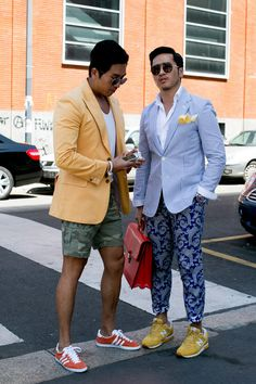 Fresh streetstyle photographs from the Milan Men`s Fashion Week