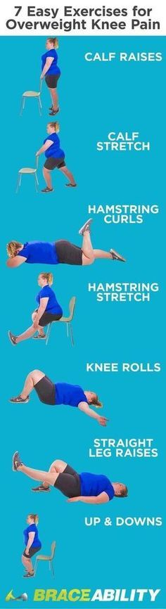 Are You Overweight with Knee Pain? Learn These 7 Easy Exercises Even Obese People Can Do - - Are you overweight or obese and struggling with knee pain? Check out these 7 easy knee pain treatment exercises and stretches to reduce your knee pain today! Fitness Motivation, Fitness Tips, Exercise Motivation, Exercise Routines, Daily Exercise, Exercise For Bad Knees, Obese Exercise, Low Impact Exercise, Exercise For Arthritis