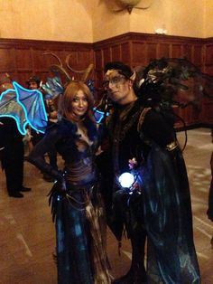 Oberon King Of The Fae and The Dragon Queen. Labyrinth Of Jareth 2014.
