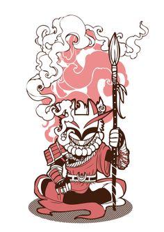 The Gods & Warriors of Geoda by Geo Law, via Behance
