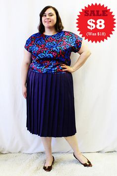CLEARANCE  Plus Size  Vintage Floral Satin Dolmen by TheCurvyElle, $8.00