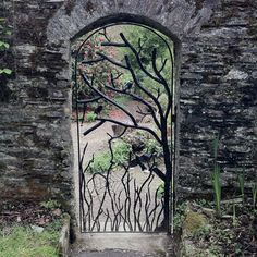 Ironmongery gate at Buckland Abbey, Devon