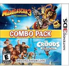 Madagascar 3: The Video Game & The Croods: Prehistoric Party! combo pack for Nintendo 3DS
