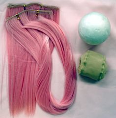 wefting tutorial making a doll wig for BJD and other small dolls
