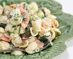 Smoked Salmon and Asparagus Pasta Salad with Lemon Poppyseed dressing