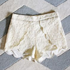 Scalloped Lace Shorts, Sweet Lace Boho Shorts from Spool 72. | Spool No.72