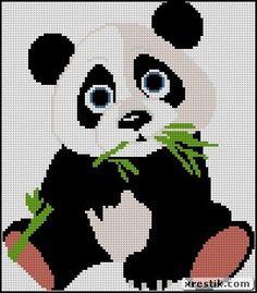 Panda scheme download Panda animal embroidery lentyaychiki
