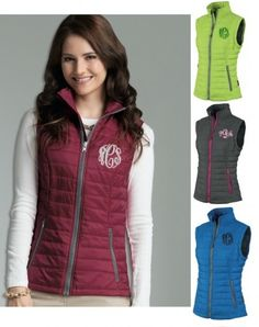 Monogrammed Quilted Vest by HeyYallandCo on Etsy